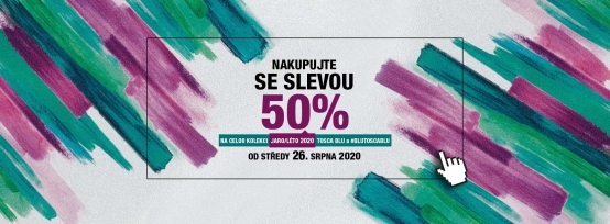 Nakupujte se slevou 50%!