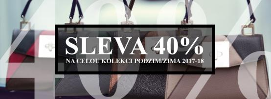 40% sleva na celou kolekci Podzim/Zima 2017-18