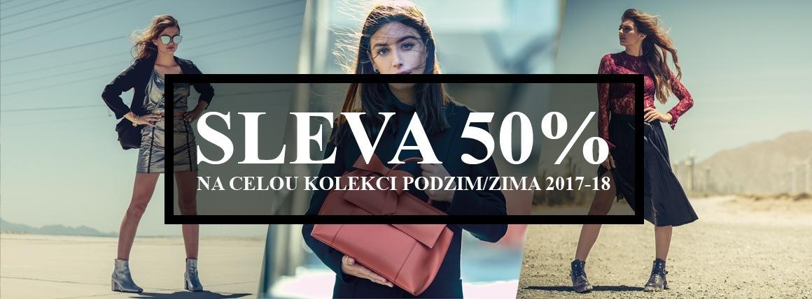 (CZ) 50% sleva na celou kolekci Podzim/Zima 2017-18